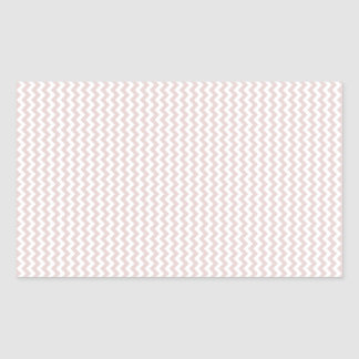 Zigzag - White and Dust Storm Rectangular Sticker