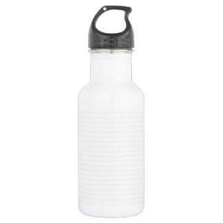 Zigzag - White and Eggshell Stainless Steel Water Bottle