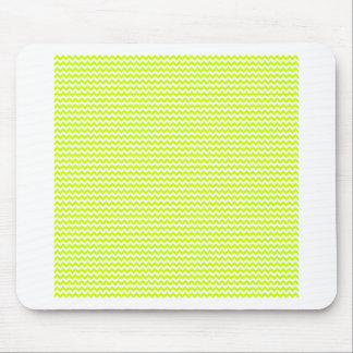 Zigzag - White and Fluorescent Yellow Mousepad