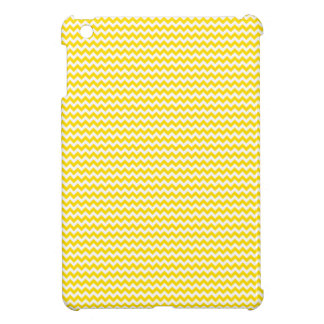 Zigzag - White and Golden Yellow iPad Mini Cover