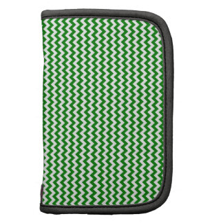 Zigzag - White and Green Folio Planners