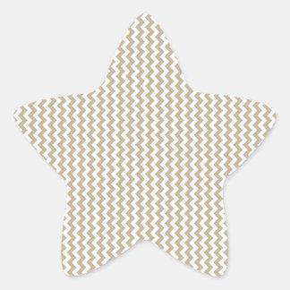 Zigzag - White and Khaki Stickers