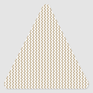 Zigzag - White and Khaki Triangle Stickers