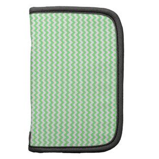 Zigzag - White and Light Green Folio Planner
