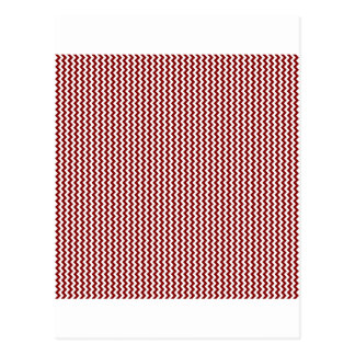 Zigzag - White and Maroon Postcard
