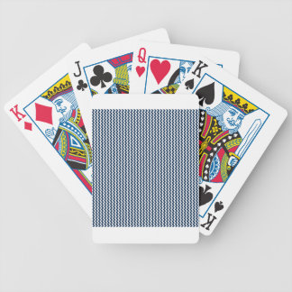 Zigzag - White and Oxford Blue Bicycle Card Decks