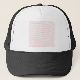 Zigzag - White and Pale Pink Trucker Hat