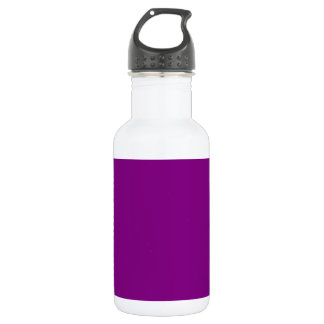 Zigzag - White and Purple Stainless Steel Water Bottle