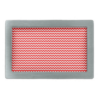 Zigzag - White and Red Belt Buckle