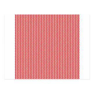 Zigzag - White and Red Postcard