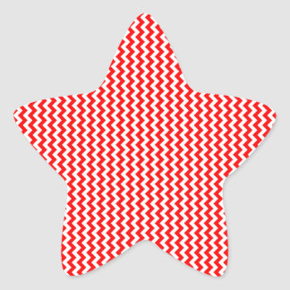 Zigzag - White and Red Star Sticker