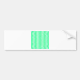 Zigzag - White and Spring Green Bumper Sticker