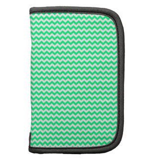 Zigzag - White and Spring Green Planner