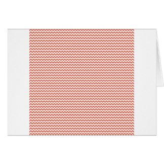 Zigzag - White and Terra Cotta Card