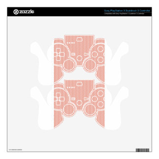 Zigzag - White and Terra Cotta PS3 Controller Decal