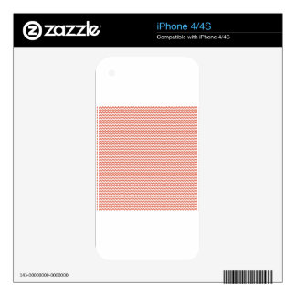 Zigzag - White and Terra Cotta Skin For iPhone 4S