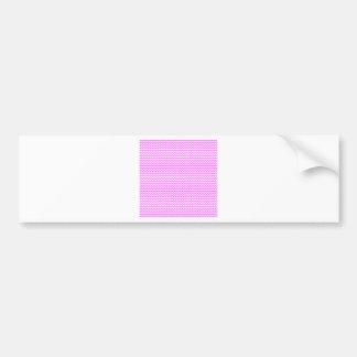 Zigzag - White and Ultra Pink Bumper Sticker