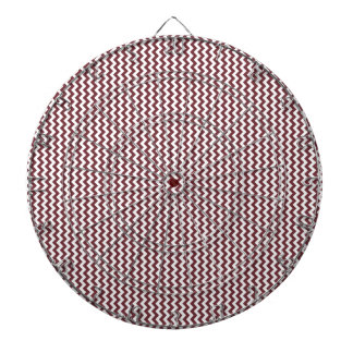 Zigzag - White and Wine Dartboard With Darts