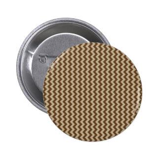 Zigzag Wide - Khaki and Dark Brown Pin