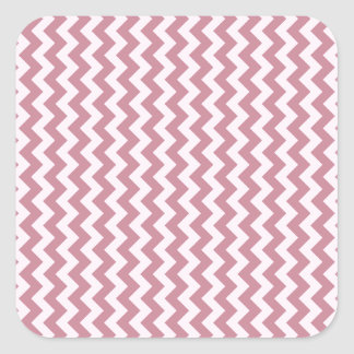 Zigzag Wide - Pink Lace and Puce Square Sticker