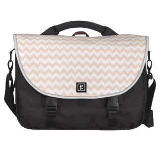 Zigzag Wide  - White and Apricot Bags For Laptop