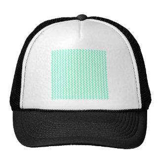 Zigzag Wide  - White and Aquamarine Trucker Hat