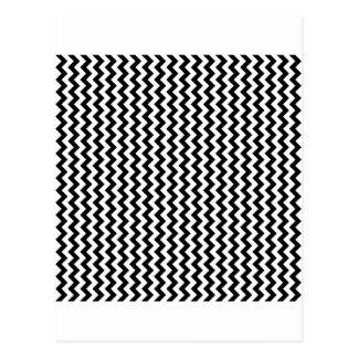 Zigzag Wide  - White and Black Postcard