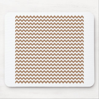 Zigzag Wide  - White and Cafe au Lait Mouse Pad