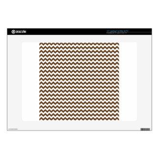 Zigzag Wide  - White and Dark Brown Laptop Skin