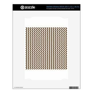 Zigzag Wide  - White and Dark Brown NOOK Skin