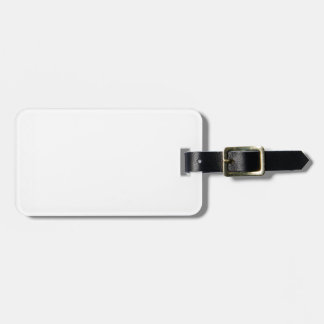 Zigzag Wide  - White and Dark Candy Apple Red Bag Tag