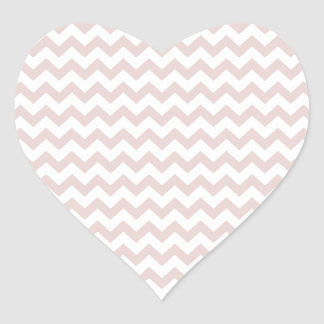 Zigzag Wide  - White and Dust Storm Heart Sticker