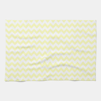 Zigzag Wide  - White and Electric Yellow Kitchen Towels