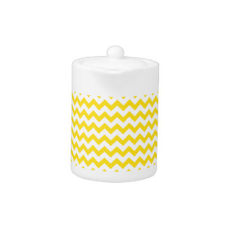 Zigzag Wide - White and Golden Yellow