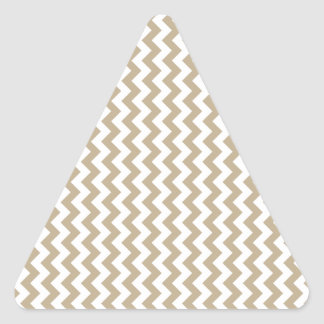 Zigzag Wide - White and Khaki Stickers