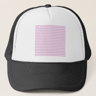 Zigzag Wide  - White and Light Orchid Trucker Hat