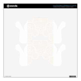 Zigzag Wide  - White and Linen PS3 Controller Skins