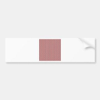 Zigzag Wide  - White and Maroon Bumper Sticker