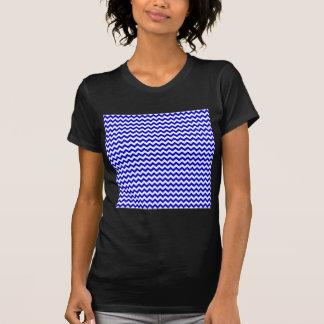 Zigzag Wide  - White and Medium Blue T-shirts