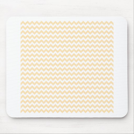 Zigzag Wide  - White and Peach Mousepads