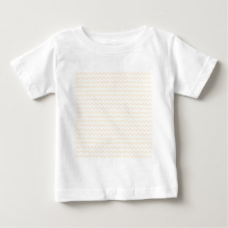 Zigzag Wide  - White and Peach Tees