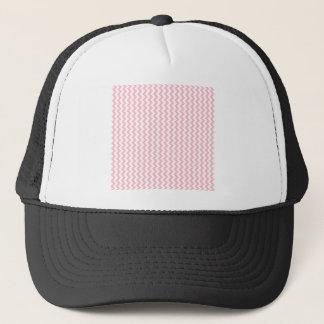 Zigzag Wide  - White and Pink Trucker Hat