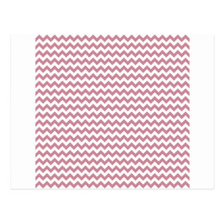 Zigzag Wide  - White and Puce Postcard