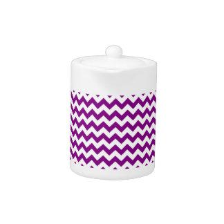 Zigzag Wide  - White and Purple