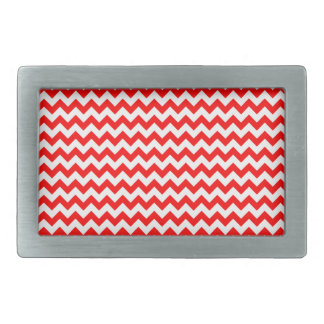 Zigzag Wide  - White and Red Belt Buckle