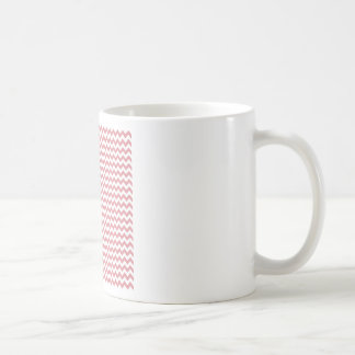 Zigzag Wide  - White and Ruddy Pink Classic White Coffee Mug