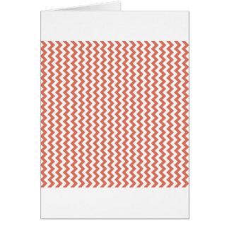Zigzag Wide  - White and Terra Cotta Card