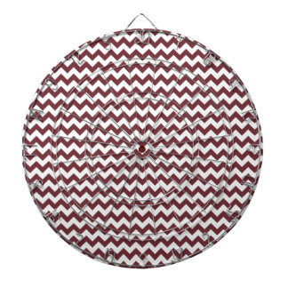 Zigzag Wide - White and Wine Dartboard With Darts