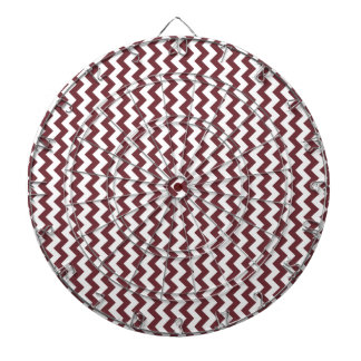 Zigzag Wide - White and Wine Dartboard