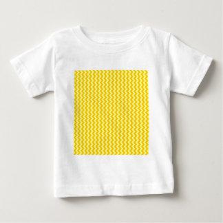Zigzag Wide - Yellow and Tangerine Yellow Baby T-Shirt